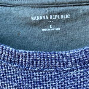 Banana Republic Shirts - Men's Banana Republic Waffle Long Sleeve